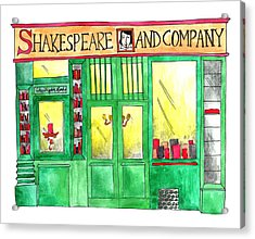 Shakespeare And Company Acrylic Print