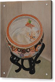 Shakespeare In A Chinese Fishbowl Acrylic Print by Quwatha Valentine