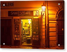 Shakespeares' Bookstore-prague Acrylic Print