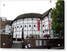 Shakespeare's Globe Theater Acrylic Print by Charles  Ridgway