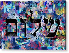 Shalom  Acrylic Print by Mark Ashkenazi