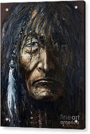 Acrylic Print featuring the painting Shaman by Arturas Slapsys