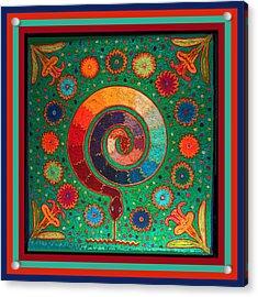 Shaman Serpent Ritual Acrylic Print