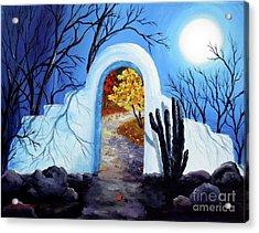 Shamans Gate To Autumn Acrylic Print