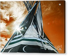 Shamans Tipi Acrylic Print by Roselynne Broussard