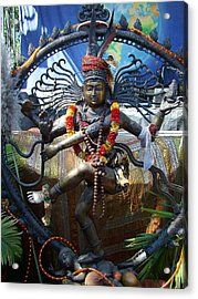 Shambu Acrylic Print by John Loyd Rushing