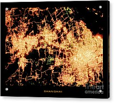 Acrylic Print featuring the photograph Shanghai From Space by Delphimages Photo Creations