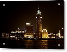 Shanghai's Bund Is Back To Its Best Acrylic Print by Christine Till