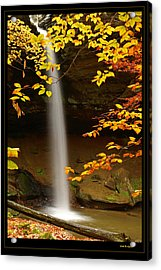 Shanty Hollow Falls Acrylic Print by Keith Bridgman