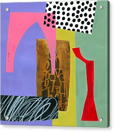 Shapes 6 Acrylic Print by Jane Davies