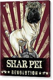 Shar Pei Revolution Acrylic Print