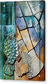 Shards Water Clay And Fire Acrylic Print by Suzanne McKee