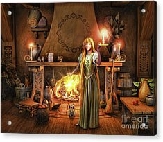 Acrylic Print featuring the painting Share My Fire And Candle Light by Dave Luebbert