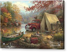 Share The Outdoors Acrylic Print by Chuck Pinson