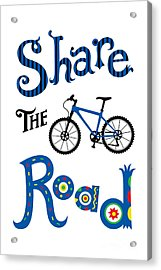 Share The Road Acrylic Print by Andi Bird