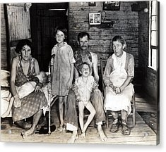 Sharecropper Bud Fields And His Family Acrylic Print by Everett