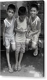 Shared Game Acrylic Print by Jez C Self