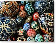 Shari's Ukrainian Eggs Acrylic Print by E B Schmidt