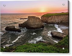 Shark Fin Cove Sunset Acrylic Print