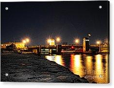 Shark River Inlet At Night Acrylic Print by Paul Ward