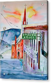 Acrylic Print featuring the painting Sharon House by Sharon Mick