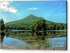 Acrylic Print featuring the photograph Sharp Top Mountain At Abbot Lake - Peaks Of Otter by Kerri Farley