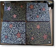 Sharpie Star Tv Table Set Acrylic Print