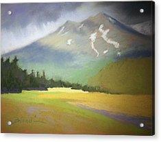 Shasta View II Acrylic Print by Janet Biondi