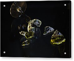 Acrylic Print featuring the photograph Shattered Illusions by Susan Capuano