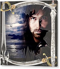 Shattered Kili With Swords Acrylic Print by Kathy Kelly