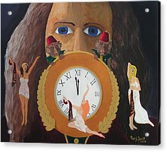 Acrylic Print featuring the painting Time Travel And Prophets by Rand Swift