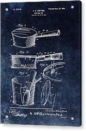Shaving Cup Barber Patent Acrylic Print by Dan Sproul