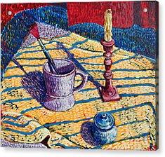 Shaving Mug Acrylic Print by Rollin Kocsis