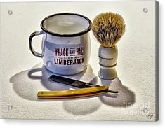 Acrylic Print featuring the photograph Shaving Still Life by Walt Foegelle