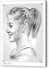 Shawn Johnson Acrylic Print by Greg Joens