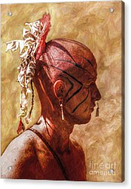 Shawnee Indian Warrior Portrait Acrylic Print