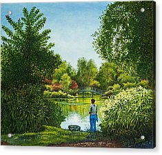 Shaw's Garden's Admirer Acrylic Print by Michael Frank