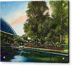 Shaw's Gardens Climatron Acrylic Print by Michael Frank