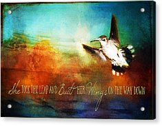 She Built Her Wings Acrylic Print
