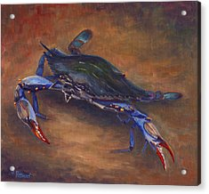 She Crab Acrylic Print by Jeff Pittman