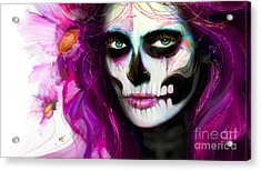 She, Dia De Los Muertos Acrylic Print