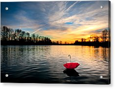 She Floats Away Acrylic Print by Brian Bonham