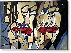 She Had Red Lips Acrylic Print by Patricia Arroyo