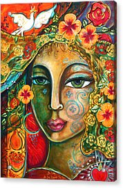 She Loves Acrylic Print by Shiloh Sophia McCloud