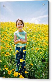 She Loves Yellow Acrylic Print