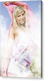 She Moves In Mysterious Ways Acrylic Print