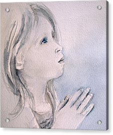 Acrylic Print featuring the painting She Prays by Allison Ashton