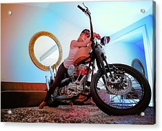 She Rides- Acrylic Print