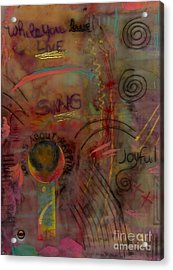 She Sings Songs Acrylic Print by Angela L Walker