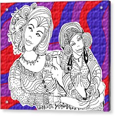 She Took Care Of Her Smaller Self Too Acrylic Print by Glenda Kotchish